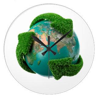 Earth's rotation wall clocks