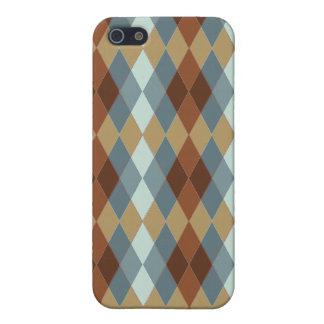 Earthtone Argyle iPhone 5 Cases