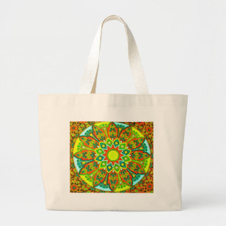 Earthtone Ethnic Look Mandala Jumbo Tote Bag