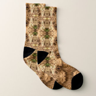 Earthtone Kaleidoscope Lrg Socks 1