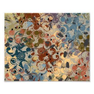 Earthtone Swirl Photographic Print