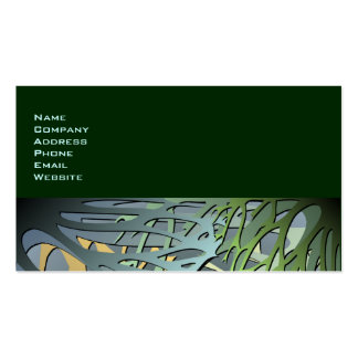 Earthy Abstract 3D Look Undergrowth Pack Of Standard Business Cards