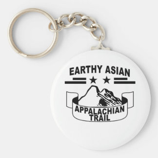 Earthy Asian Appalachian Trail Tee ;' Basic Round Button Key Ring