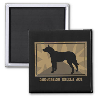 Earthy Australian Cattle Dog Gifts Magnet