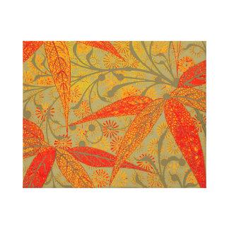 Earthy Bamboo Art Print Illustration Colorful