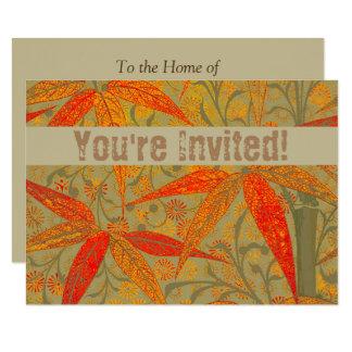 Earthy Bamboo Art Print Illustration Colorful Card