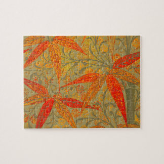 Earthy Bamboo Art Print Illustration Colorful Jigsaw Puzzle