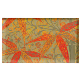 Earthy Bamboo Art Print Illustration Colorful Table Card Holder