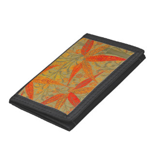 Earthy Bamboo Art Print Illustration Colorful Tri-fold Wallet