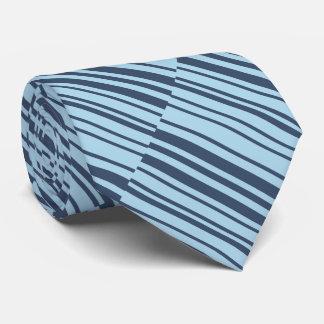 Earthy Blue Stripes Tie