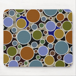 Earthy colored circles background mouse pad