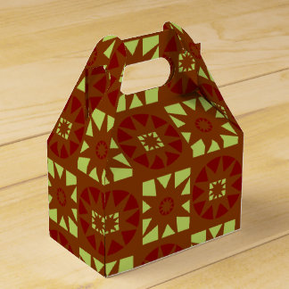 Earthy Ethnic Geometric Floral Print Favour Box