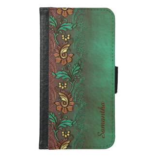 Earthy Floral Custom Samsung S6 Wallet Case
