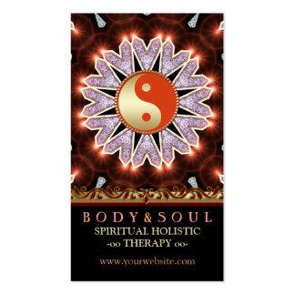 Earthy Fresh Healing YinYang Yoga Business Cards