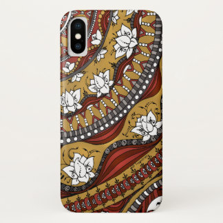Earthy Lotus Tapestry iPhone X Case