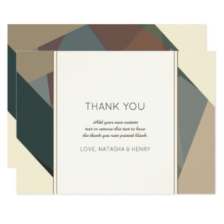 Earthy, Modern Abstract Thank You Card