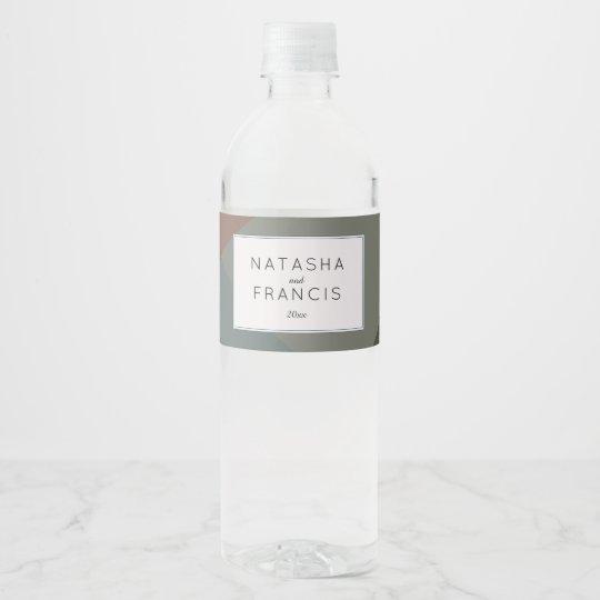 Earthy, Modern Abstract Water Bottle Label