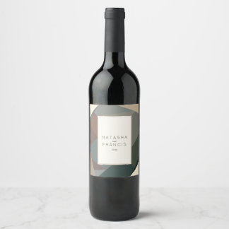 Earthy, Modern Abstract Wine Label