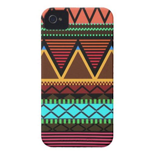 Earthy Neon Modern Tribal Blackberry Bold Case