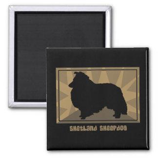 Earthy Shetland Sheepdog Magnet
