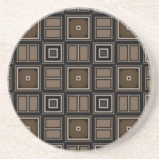 Earthy Taupe Sandstone Coaster by Julie Everhart