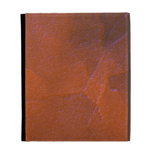Earthy Textured Glass Abstract Art Orange Blue iPad Folio Cases