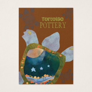 Earthy Unique Sedona Turtle Pottery Business Cards