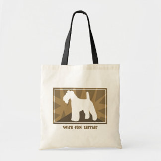 Earthy Wire Fox Terrier Tote Bag