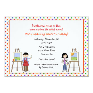 Easel Artists Invitations