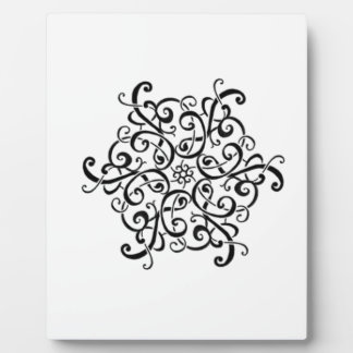 Easel-Black and White Design Plaque