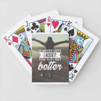 Easier Stronger Better Bicycle Playing Cards