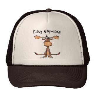 Easily Amoosed!-Sitting Moose Cap