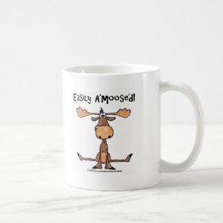Easily Amoosed!-Sitting Moose Basic White Mug