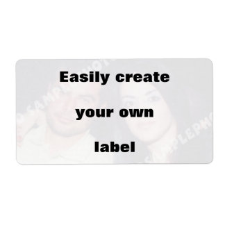 Easily create your label. Remove the big text!