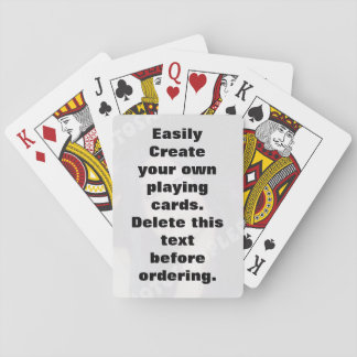 Easily create your own custom playing cards deck