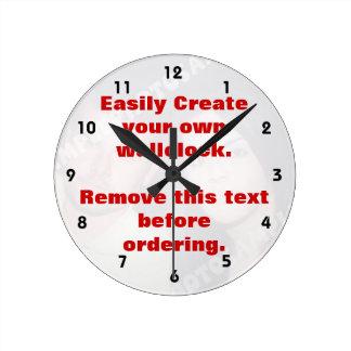 Easily create your own custom wall clock