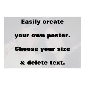 Easily create your print. Remove the big text! Poster