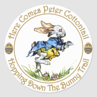 Easster - Here Comes Peter Cottontail Classic Round Sticker
