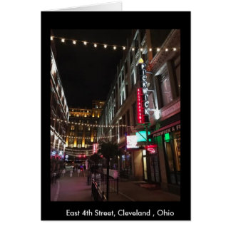 East 4th Street, Cleveland, Photo Greeting Card
