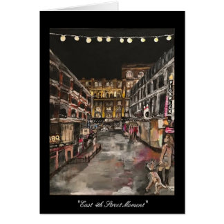 """East 4th Street Moment"" Cleveland, Ohio Card"