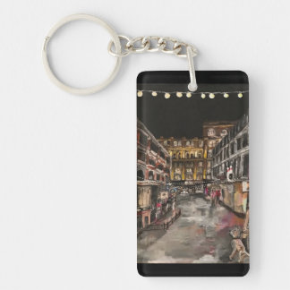 """East 4th Street Moment"" Cleveland, Ohio Keychain"