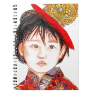 East Asian Child Spiral Note Books
