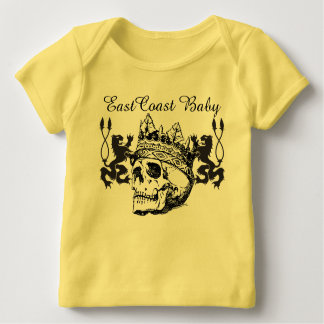 East Coast Baby King Skull American Apparel Baby T-Shirt