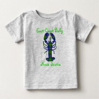 East Coast Baby Lobster Nova Scotia tartan Canada Baby T-Shirt