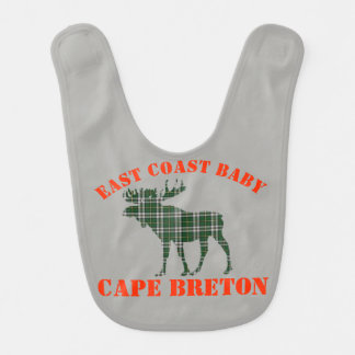 East Coast Baby moose  Cape Breton tartan  bib