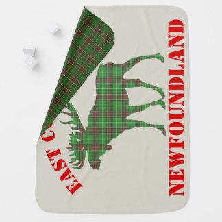 East Coast Baby moose Newfoundland tartan  blanket