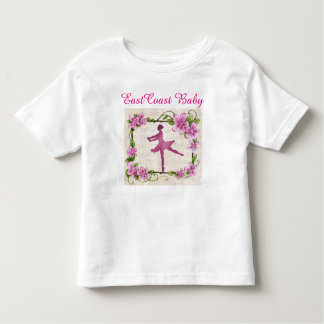 East Coast Baby music ballerina dance flower Toddler T-Shirt