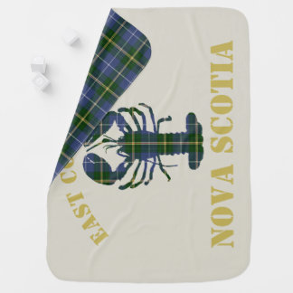 East Coast Baby Nova Scotia Lobster tartan blanket