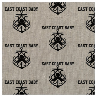 East coast  Baby Octopus anchor Fabric