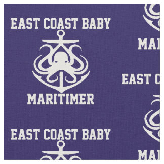 East coast  Baby Octopus anchor Fabric navy blue